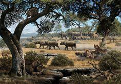 recreación mioceno de cerro de batallones - Buscar con Google