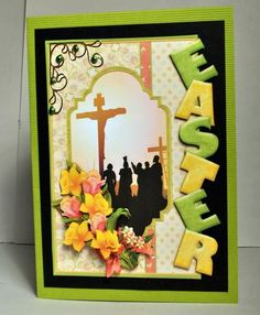 EASTER OVER THE SIDE Cross Daffodils on Craftsuprint designed by Janet Briggs - made by Kristina Norbat