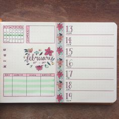"179 Likes, 8 Comments - Josie (@journalphine) on Instagram: ""Next week's spread, ready to go #bulletjournal #bujo #bujoweekly #weeklyspread #floraltheme…"""