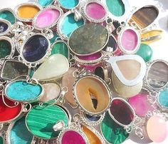 Pendants and Lockets 45079: 125Pcs Wholesale Mix Lot Gemstone 925 Sterling Silver Pendants -> BUY IT NOW ONLY: $132.99 on eBay!