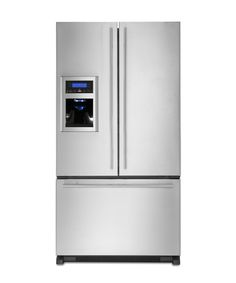Estimated yearly energy cost: $58 Capacity: 25 cubic feet Only available in stainless steel; jennair.com Pros:  The Jenn-Air Euro-Style French Door Refrigerator Model # JFI2589AES