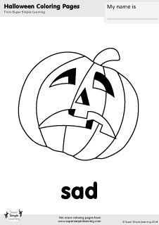 Free Jack O Lantern Coloring Page From Super Simple Learning Tons Of