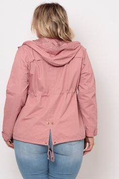 Plus Size Utility Element Coat - Blush Plus Size Womens Clothing, Clothes For Women, Classy Girl, Hooded Jacket, Latest Trends, Raincoat, Curvy, Jackets, Collection