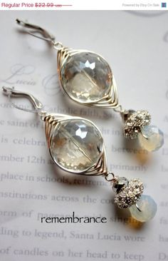remembrance crystal quartz wire wrapped pandora opalite earrings