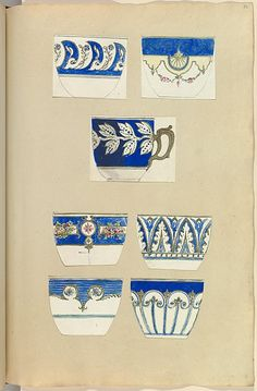 Alfred Henry Forrester [Alfred Crowquill] | Seven Designs for Decorated Cups | The Metropolitan Museum of Art