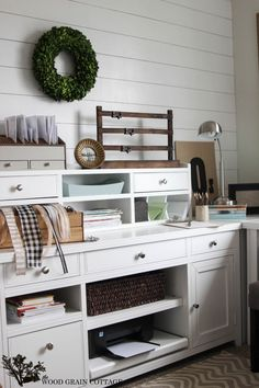 Office Plank Wall - The Wood Grain Cottage