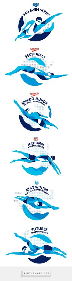 USA Swimming championship series on Behance... - a grouped images picture - Pin Them All