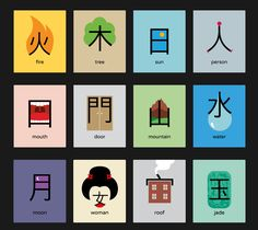 Chinesisch lernen mit Noma Bar Chineasy was a huge success on Kickstarter. Learn Japanese Words, Japanese Phrases, Study Japanese, Japanese Kanji, Japanese Culture, Learning Japanese, Japanese Language Lessons, Japanese Language Proficiency Test, Chinese Language