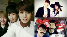 2NE1's Sandara Park and SUJU's Donghae Catch Up, CN Blue's Jung Yong Hwa Takes Selfie with SHINee's Onew and MBLAQ's Lee Joon