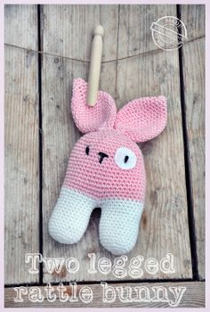 two legged rattle bunny with link to pattern