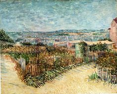 Vegetable Gardens in Montmartre, 1887 Vincent van Gogh