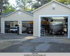 Jay leno 39 s kitchen in garage yup why not garages for Car lift garage plans