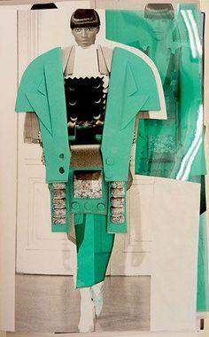Maria Lavigina, Fashion Folio 2012-13 Fashion Design Sketchbook, Fashion Design Portfolio, Fashion Sketches, Art Sketchbook, Fashion Illustration Collage, Fashion Collage, Fashion Illustrations, Silhouette Mode, Fashion Communication