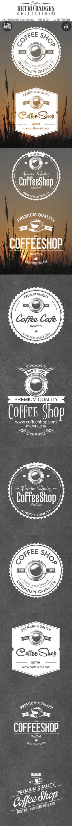 Coffee logo Badges by creative artx, via Behance