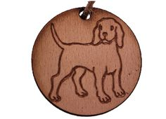 Christmas Tree Decoration Dog. Vintage shabby chic  - Labrador / Hound / Puppy.