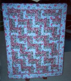Just a fun rail fence quilt!