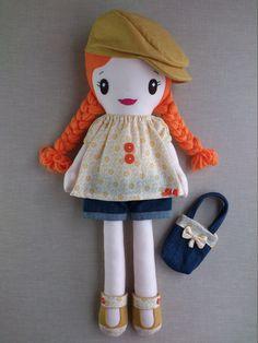 Muñeca de Trapo Muñeca Hecha a Mano Muñeca por BlueButterfliesWorld