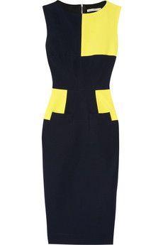 Victoria Beckham's navy stretch-crepe dress