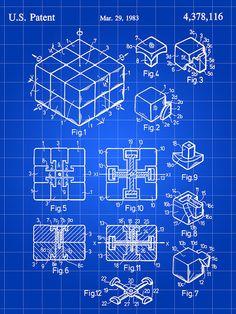 Rubiks Cube Patent Digital Art  - Rubiks Cube Patent Fine Art Print