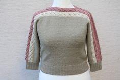 Vintage Pullover - Pullover vintage Zopfmuster gestrickt beige rosa - ein Designerstück von trixies-zauberhafte-Welten bei DaWanda
