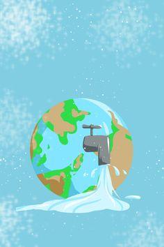 Cartel Del Día Mundial Del Agua Cartel Del Día Del Agua Tierra Grifo