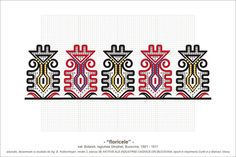 Semne Cusute: Romanian traditional motifs Folk Embroidery, Vintage Embroidery, Embroidery Patterns, Floral Embroidery, Cross Stitch Borders, Cross Stitch Patterns, Mina, Beading Patterns, Pixel Art