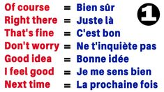 French Words Quotes, Basic French Words, French Phrases, English Phrases, How To Speak French, French Language Lessons, French Language Learning, French Lessons, French Expressions