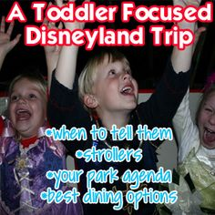My favorite ages to take to Disneyland. Here's how to focus on the little ones with lots of info for just their ages.