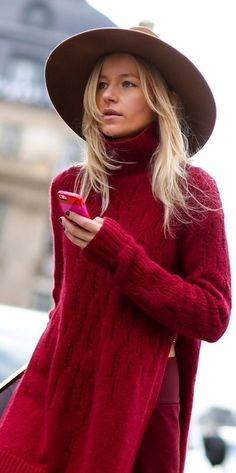 Burgundy Sweater | Winter.