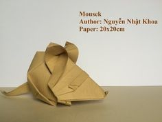 How to make Origami Mousek - Nguyễn Nhật Khoa - Tutorial by PaperPh2 - YouTube