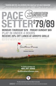 Ak-Chin Southern Dunes Golf Club | Public Troon Golf in Maricopa Arizona - Specials
