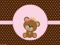 Tubete Scrapbook Bebe, Scrapbook Images, Baby Girl Scrapbook, Baby Shower Cakes, Baby Shower Gifts, Teddy Bear Baby Shower, Baby Shawer, Bear Party, Baby Shower Princess