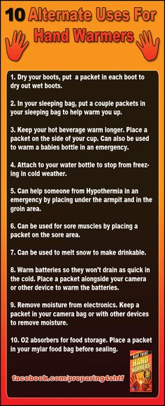 Ten alternate uses for hand warmers - Preparing For SHTF