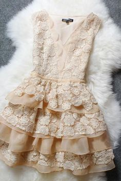 Lace Embroidered Organza Dress