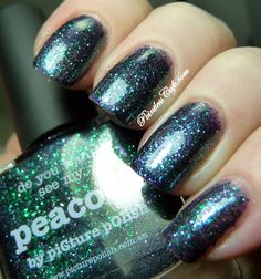 piCture pOlish Peacock mani creation by Shelia aka Pointless Cafe! WOW