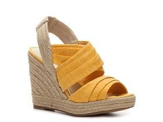 Ann Marino Jillian Wedge Sandals in yellow look stylish and comfy