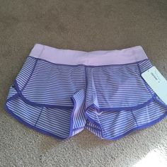 Speed Shorts - Pretty Purple Stripe