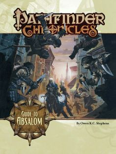 Pathfinder Chronicles: Guide to Absalom (OGL) | Book cover and interior art for Pathfinder Roleplaying Game - PFRPG, 3rd Edition, 3E, 3.x, 3.0, 3.5, 3.75, Role Playing Game, RPG, Open Game License, OGL, Paizo Inc. | Create your own roleplaying game books w/ RPG Bard: www.rpgbard.com | Not Trusty Sword art: click artwork for source