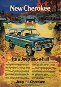 "The Jeep Cherokee was the first four wheel drive vehicle to be successfully marketed as an alternative to the ""family car"". Remembering my ""Uncle Woody & Aunt Mary"" ; very fond memories."