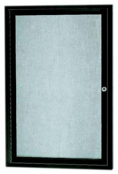 ODCC3624RBA. Outdoor Enclosed Bulleting Board with Aluminum Frame. Back Panel is Burlap Weave Vinyl, Frame is Bronze Anodized Aluminum. 36″Hx24″W. One Door