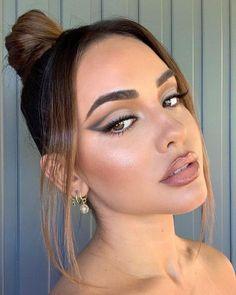 makeup ideas makeup vs no eye makeup makeup aesthetic makeup videos in urdu eye makeup makeup 2020 makeup and red lipstick without makeup photo Makeup Eye Looks, Cute Makeup, Pretty Makeup, Skin Makeup, Eyeshadow Makeup, Glam Makeup Look, Eyeliner, Makeup Style, Brows