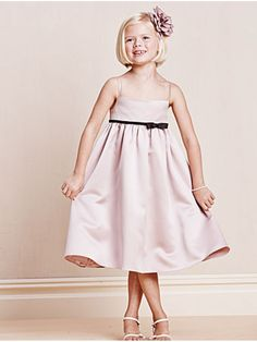 A-line Spaghetti Straps Knee-length Flower Girl Dresses