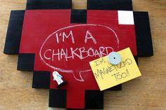8-bit Heart Chalkboard