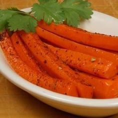 "Spicy Glazed Carrots I ""My family loved this side dish and it was easy to make."""