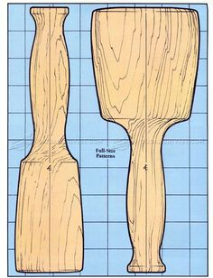 Wooden Mallet Plans - Wood Carving Woodworking Hand Tools