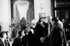 Padre Pio Receiving Faithful Patrons - 1967 San Giovanni Rotondo    #TuscanyAgriturismoGiratola