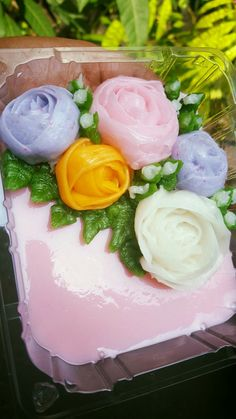 Jelly piping flower