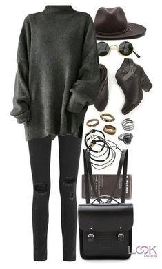 re featuring Korres, rag & bone, The Cambridge Satchel Company, Scosha, Forever 21 and Mudd Komplette Outfits, Trendy Outfits, Fashion Outfits, Fashion Trends, Fall Winter Outfits, Autumn Winter Fashion, Look Fashion, Korean Fashion, Paris Mode