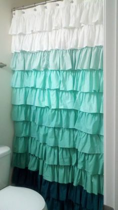 Curtains Ideas blue ombre shower curtain : Wanna know something cool? I OWN THIS!! haha! Anthropologie ...