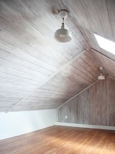 This technique allows you to keep the woodgrain texture of walls, but not the deep color. Start by watering down your paint, then you'll want to brush on, immediately wipe, and repeat until you get your desired color. Get the tutorial at Maison de Pax »   - HouseBeautiful.com